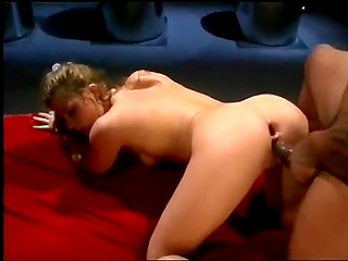 Young hottie masturbates her pussy while getting screwed in the ass