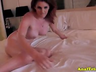 Amazingly sex babe with big boobs lets the dick squeeze between her appetizing buttocks 9