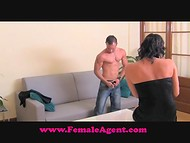 Handsome guy came at the porn casting and got a wonderful chance to fuck female agent 5