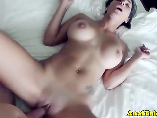 Hot brunette can't stop riding the powerful dick of her passionate cameraman
