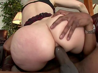 Mature dame with huge forms prefers to play dirty sexual games with horny black man