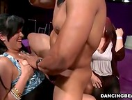 Hen-party becomes much more interesting, when handsome black strippers start their show 4