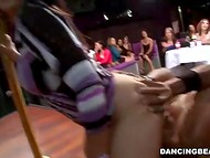 Hen-party becomes much more interesting, when handsome black strippers start their show 9