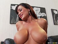 Looks like this hot bitch with unbelievable forms was born for passionate sex actions 10