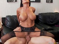 Looks like this hot bitch with unbelievable forms was born for passionate sex actions 9