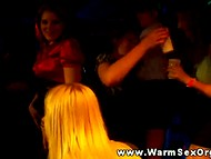 Сheerful students went at sex-party in the dancing night club with a camera 5