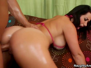 Real gentleman carefully licked dripping pussy of an adorable woman before starting hot drilling