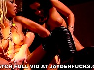 Lesbian action in fetish style featuring big-breasted dames Jayden Jaymes and Bridgette B 10
