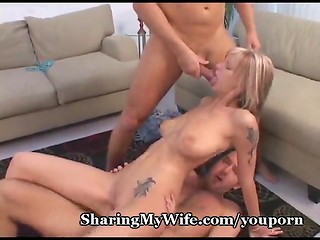 Best friends sharing hot cute wife