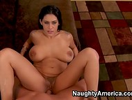 Sparkling MILF Raylene with huge melons got screwed by her chap