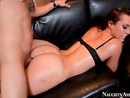 Dark-haired Kelsi Monroe can leave her bra, having such a perfect ass 9