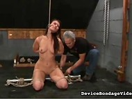 Quiet and peaceful girl is ready to experience any of crazy BDSM procedures 5