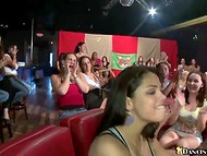 Usual hen-party has to contain passionate show with hot strippers 9