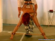 Strict man in army pants made tied up gal with foxy hair to feel like a navy seal 8