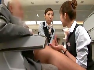 Firts class fly, all inclusive even handjob from stewardess