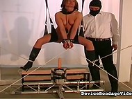 In order to get hot sensations delightful woman came to a perverted freak in the dungeon