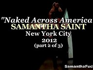 One day with American pornstar Samantha Saint was recorded in New York city 11