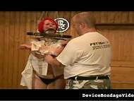Развратник обвязал бечёвкой пышные цицероны самки с рыжими волосами и они тотчас набухли 7