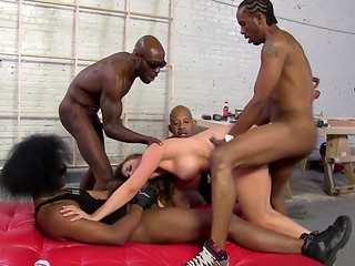 Brigadier Chanel Preston allows dark-skinned workers to decorate her body with sperm