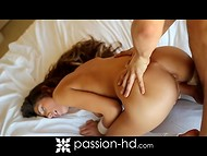 Elegant body of big-titted August Ames got carefully brought to the heavenly pleasure 10