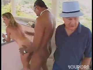 Black dick working on sexy MILFs both holes