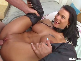 Dude put butt plug in Peta Jensen's asshole while was penetrating her sissy
