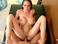 Insatiable British MILF with huge breasts having sex with her lucky lover