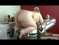 BBW nurse Mandy Majestic tied a black man to the hospital bed and sucked his cock