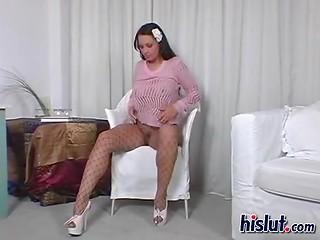 Lonely Kira Eggers luring men using her stunning body in black pantyhose