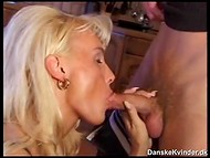 It was possible to hear loud moans of light-haired madame from the Danish country house 5