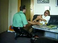Woman from Germany got excited from the pleasure brought to her legs and got ready for the continuation 10