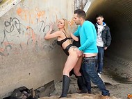 Unsatisfied mistress doesn't miss the chance to be owned by vigorous young dude 4