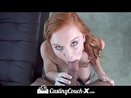 Gifted Alex Tanner with red hair earned the highest grade from the first time at the casting 7