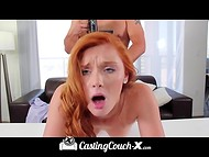 Gifted Alex Tanner with red hair earned the highest grade from the first time at the casting 8