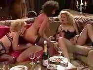 Crazy German swinger party with luxury sluts and fortunate fuckers in the vintage video
