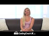 Casting for porn business is difficult, but blonde stunner is ready for anything to pass it