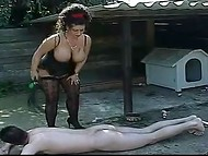 After taming disobedient man Tiziana Redford released the warm pee on his face