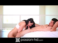 Amazing Charley Chase took advantage of her deep throat to melt boyfriend's heart