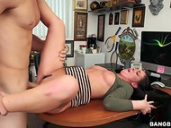 Male had to work hard with his hips satisfying beautiful Brittany Shae to get the job  6