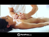 Being in the hands of skilled masseur Chloe Amour wasn't worried about the quality of service 6