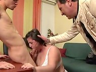 Mature Italian fatty fucks like a young slut in each hole of her big body
