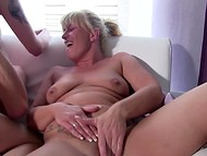 Insatiable MILF invited tattooed stepdaughter for having fun with her lover 4