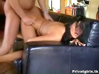 Randy brunette lady taking it up the ass