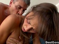Middle-aged man owned stacked whore and came profusely on her juicy buttocks 7