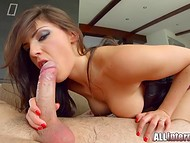 Winsome pornstar from France Cecilia De Lys got an erected penis in her perfect butt hole 7