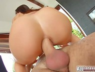 Winsome pornstar from France Cecilia De Lys got an erected penis in her perfect butt hole 9