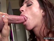 Guy with the camera could fully appreciate Ariella Ferrera's sucking skills 4