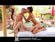 Muscled Johnny Sins offered two pretty kittens not the massage services only 9