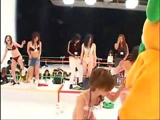 Asians organized special competition for skinny chicks with the main goal to upskirt them all