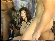 Unrepeatable German porn actress with awesome shapes turns crazy several men at once